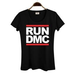 HollyHood - HollyHood - Run Dmc Kadın Siyah T-shirt