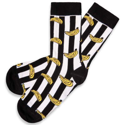 SA - Banana Siyah & Beyaz Çorap