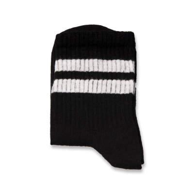 SA - Beyaz Çizgili Siyah Çorap