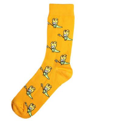 SA - Cadı Figürlü Turuncu Çorap