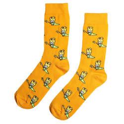 HollyHood - SA - Cadı Figürlü Turuncu Çorap (1)