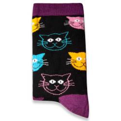 SA - Cats Siyah Çorap - Thumbnail