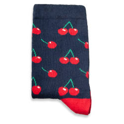 SA - Cherry Lacivert Çorap - Thumbnail