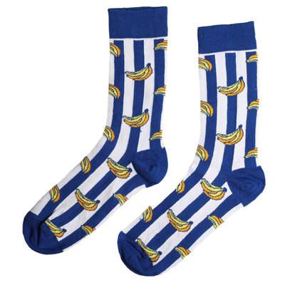 HollyHood - SA - Çizgili Muz Desenli Çorap