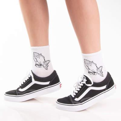 SA - Crime Gods Beyaz Çorap