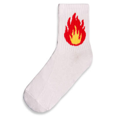 SA - Flame Beyaz Çorap