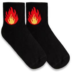 HollyHood - SA - Flame Siyah Çorap