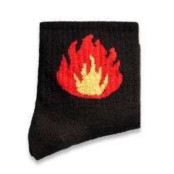 HollyHood - SA - Flame Siyah Çorap (1)