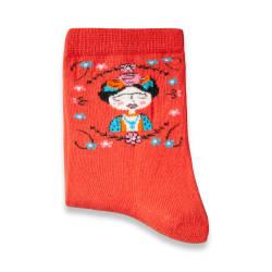 SA - Frida Turuncu Çorap - Thumbnail