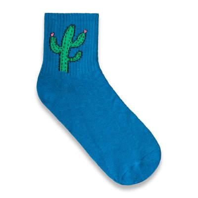 SA - Kaktüs Mavi Çorap