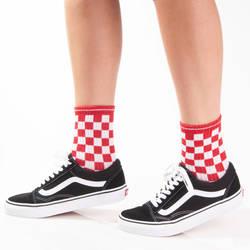 HollyHood - SA - Kareli Kırmızı Beyaz Çorap