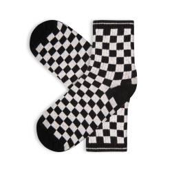 HollyHood - SA - Kareli Siyah Beyaz Çorap