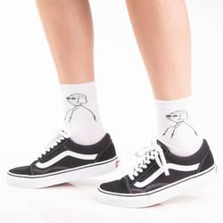 SA - Mathilda Beyaz Çorap - Thumbnail