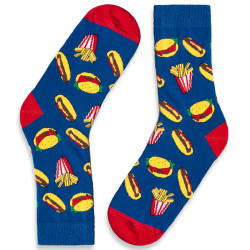 HollyHood - SA - Fast Food Mavi Çorap (1)