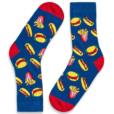 HollyHood - SA - Fast Food Mavi Çorap