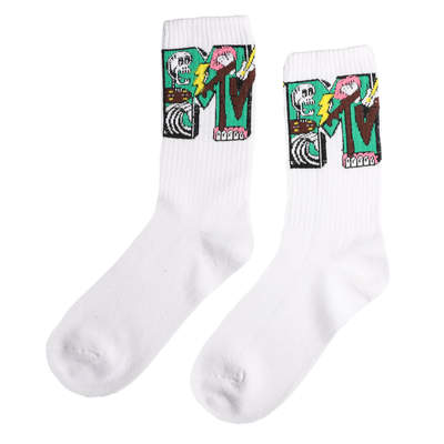 SA - Mtv Desenli Beyaz Çorap