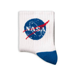 SA - Nasa Logo Beyaz Çorap - Thumbnail