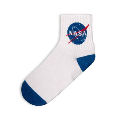 SA - Nasa Logo Beyaz Çorap