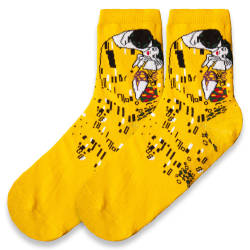 SA - Öpücük Sarı Çorap - Thumbnail