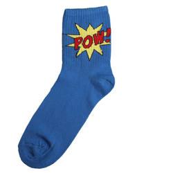 HollyHood - SA - Pow Kısa Mavi Çorap