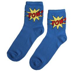 HollyHood - SA - Pow Kısa Mavi Çorap (1)