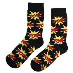 HollyHood - SA -Pow Siyah Kırmızı Çorap (1)