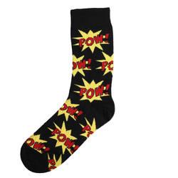 HollyHood - SA -Pow Siyah Kırmızı Çorap
