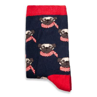 SA - Pug Lacivert Çorap