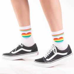 HollyHood - SA - Rainbow Love Beyaz Çorap