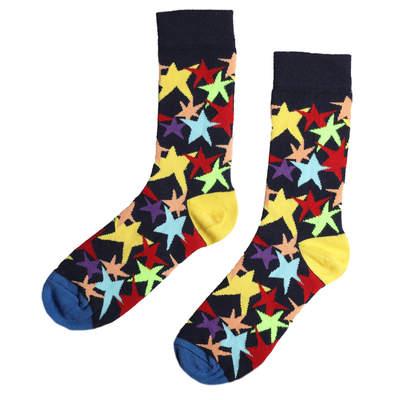 SA -Renkli Yıldız Desenli Çorap