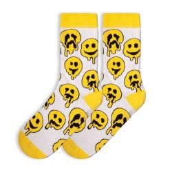 HollyHood - SA - Smile Emoji Beyaz Çorap (1)