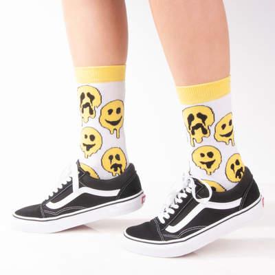 SA - Smile Emoji Beyaz Çorap