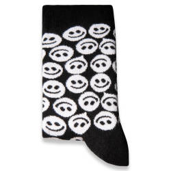 SA - Smile Siyah - Beyaz Çorap - Thumbnail