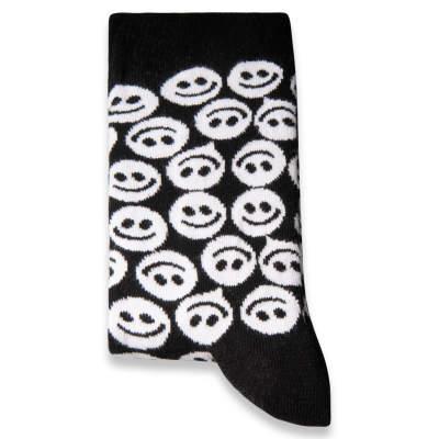 SA - Smile Siyah - Beyaz Çorap