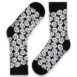 HollyHood - SA - Smile Siyah - Beyaz Çorap