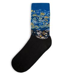 SA - Yıldızlı Gece Siyah Çorap - Thumbnail