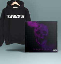 Ceg - HollyHood - Cegıd Trapanasyon Siyah Hoodie + Albüm ( Özel Paket )
