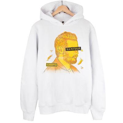 BASKISI İPTAL - HH - Şanışer O.G. Limited Edition Beyaz Cepsiz Hoodie