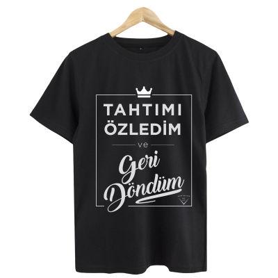 HH - Şanışer Tahtımı Özledim Siyah T-shirt
