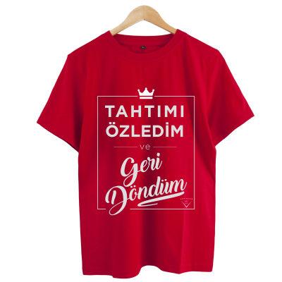 HH - Şanışer Tahtımı Özledim Kırmızı T-shirt
