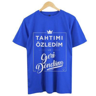 HH - Şanışer Tahtımı Özledim Mavi T-shirt