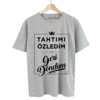 HH - Şanışer Tahtımı Özledim Gri T-shirt