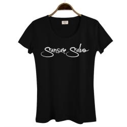 Sansar Salvo - HollyHood - Sansar Salvo 2 Siyah Kadın T-shirt