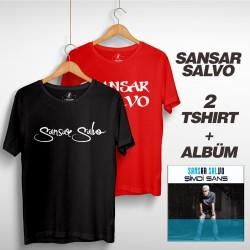 Sansar Salvo - Sansar Salvo Box 2 (Tipografi) Gri + Kırmızı