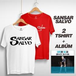 Sansar Salvo - Sansar Salvo Box 2 (Tipografi) Beyaz + Kırmızı