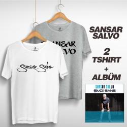 Sansar Salvo - Sansar Salvo Box 2 (Tipografi) Beyaz + Gri
