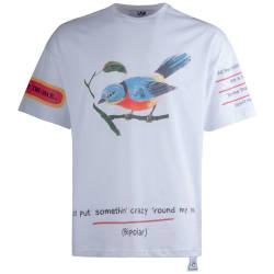 Saw - Saw - Bird Oversize Beyaz T-shirt