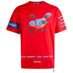 Saw - Saw - Bird Oversize Kırmızı T-shirt