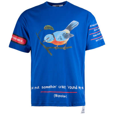 Saw - Saw - Bird Oversize Mavi T-shirt