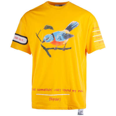 Saw - Bird Oversize Sarı T-shirt